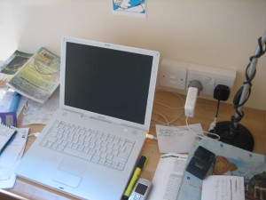 Guidebook-writing chaos, Galway, summer 2006.