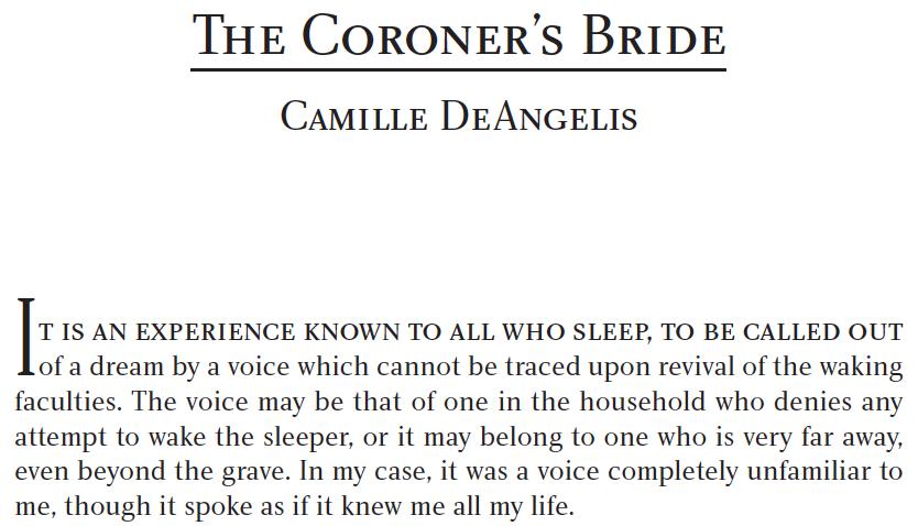coroner's bride screenshot