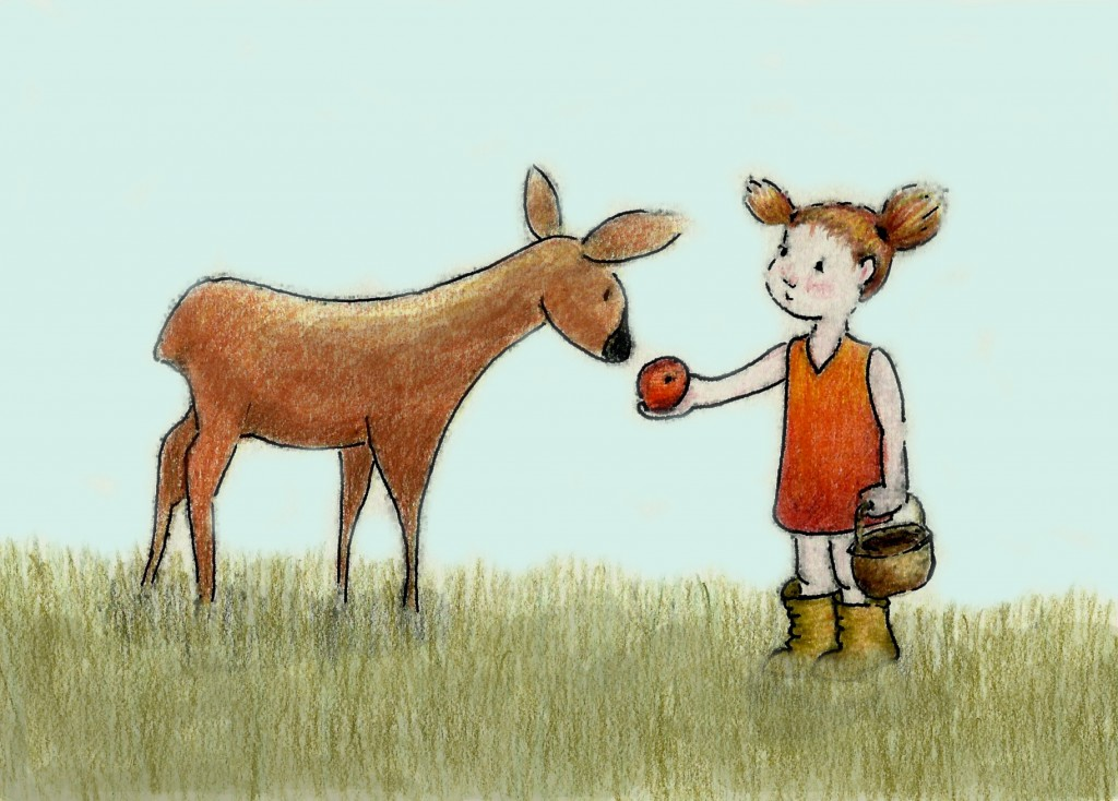 Deer-and-girl-color-2