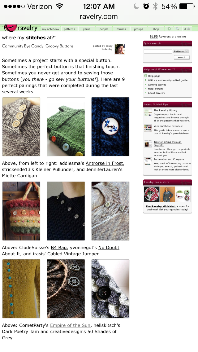 ravelry front page
