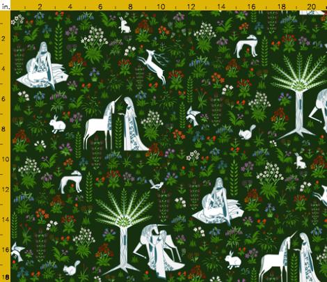 unicorn fabric swatch
